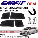 CARFIT OEM Magnetic Custom Fit Sunshade For Honda Civic Yr 2016-2018 (4pcs Sets)